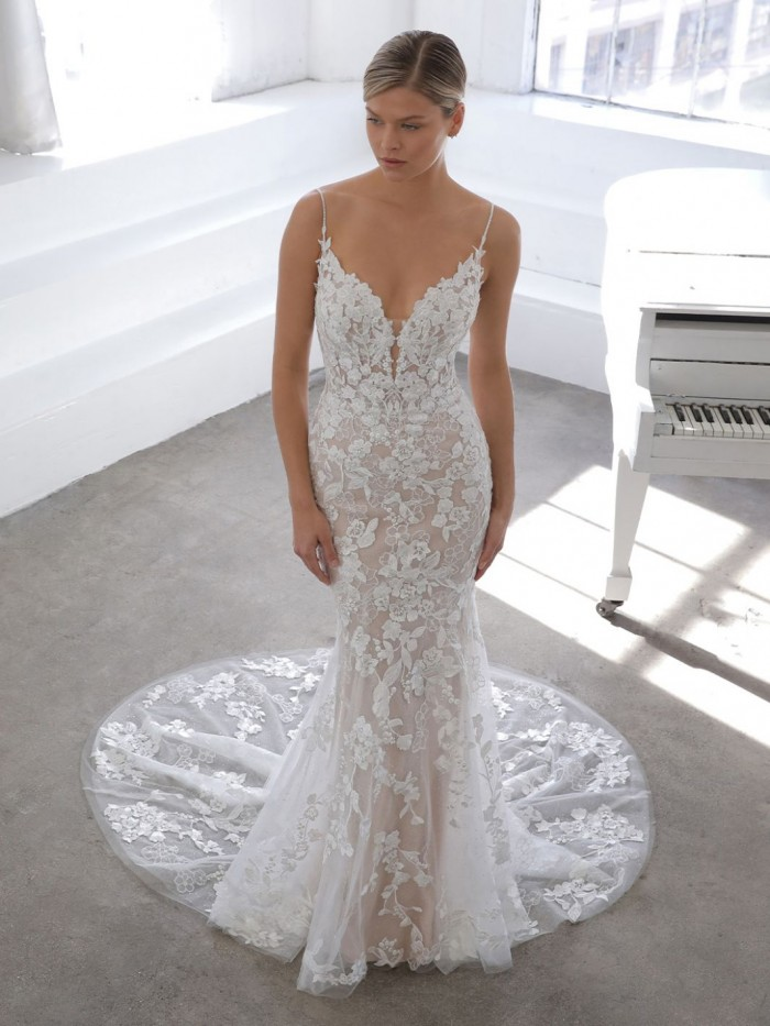Drop Waist Wedding Dress   Moonlight Bridal J6816   RK
